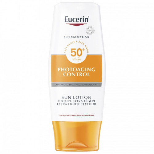 EUCERIN SUN PROTECTION PHOTOAGING CONTROL LOTION SOLAIRE EXTRA-LÉGÈRE SPF50+ 150 ML