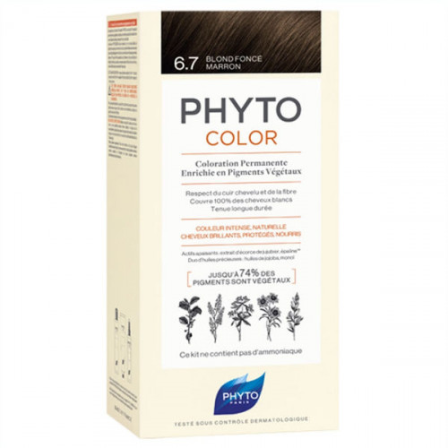 Phyto PhytoColor Kit coloration permanente 6,7 Blond Foncé Marron