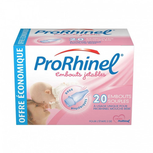 Prorhinel 20 embouts nasal jetables