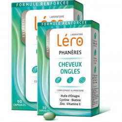 Léro Phanères Cheveux Ongles 90 Capsules + 30 Capsules Offertes