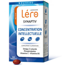 Léro Synaptiv Concentration Intellectuelle 30 Capsules