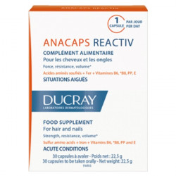 DUCRAY ANACAPS REACTIV CHEVEUX ET ONGLES. 30 CAPSULES