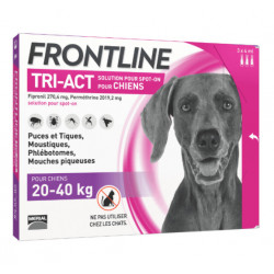 Frontline Tri Act spot on Grand chien 20 - 40 kg 3 pipettes