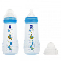 MAM Easy Active liquides épais Bleu 2 x 330 ml