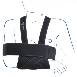 Thuasne Gilet immobilisation scapulo-huméral noir Taille 3